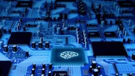 Eine blaue CPU-Platine