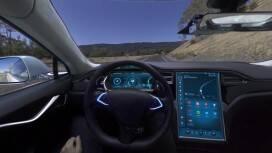 Szenen aus dem ersten 360 ° Virtual Reality Video mit einem Entwicklungsfahrzeug für automatisiertes Fahren von Bosch.