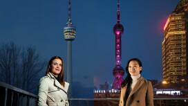Nadine Kanja from Bosch in Stuttgart und Sun-Mi Choi from Bosch in Shanghai